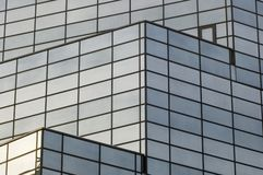 Building. Abstract reflecting windows on large business building Royalty Free Stock Photography