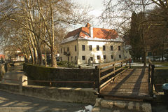 Building. Museum building and park Samobor Croatia Europe Stock Photos