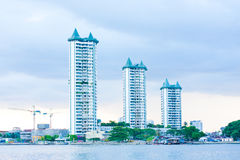 Building. The buildings near chao-praya river, and a beautiful nature and sea view Royalty Free Stock Images