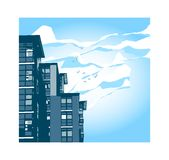 Building. Apartment or Hotel royalty free illustration