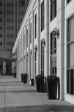 Building. Hotel exterior with planter boxes and side walk. Sharp focus over entire image Royalty Free Stock Images