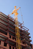 Building. Construction, new office building and crane Stock Photos