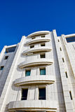 Building. Modern building on a bright blue sky Stock Photo