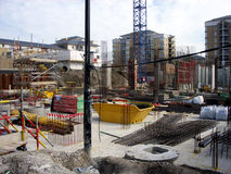 Building 8. This is a building site in London's Docklands royalty free stock photo