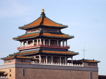 Building. This is a large building in beijing , very beauty and very traditional royalty free stock photography