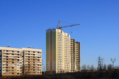 Building. Site, tenement-house, architectural engineering Stock Photography
