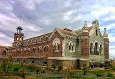 Building of abandoned hospital. Nineteenth century hospital Royalty Free Stock Photos