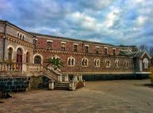 Building of abandoned hospital. Nineteenth century hospital Royalty Free Stock Images