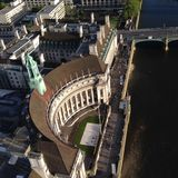 Building from above. Famous building in London photographed from above Stock Photos