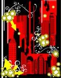 Building abstract composition. Modern landscape building abstract composition illustration Vector Illustration