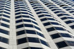 Building abstract looking up. A rippling effect looking up at a sky scraper Stock Photos