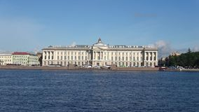 The building of the Academy of Arts on the summer Neva. Saint-Petersburg