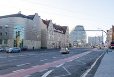 The building of the Academy of Music in Poznan. Poland. Poznan, Poland - December 05, 2018: The building of the Academy of Music in Poznan. Poland stock images