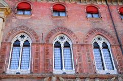 Building Accursio municipal or city center in Bologna in Emilia Romagna (Italy) Stock Photo