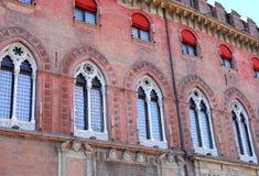 Building Accursio or municipal city center in Bologna in Emilia Romagna (Italy) Stock Photography