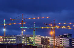 Building activity in central Stockholm Stock Image