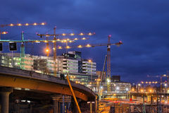 Building activity in central Stockholm Royalty Free Stock Photography