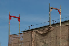 Building activity. Industrial scaffolding. Royalty Free Stock Image
