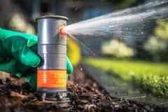 Underground Sprinkler System Stock Image