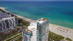 Building aerial Miami Beach Stock Photo