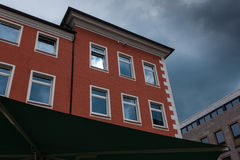 The building against sky in city Minden, Germany.  Royalty Free Stock Images