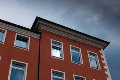 The building against sky in city Minden, Germany.  Stock Photos