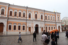 The building is in the aisle Resurrection Gate, Moscow Kremlin Stock Photos