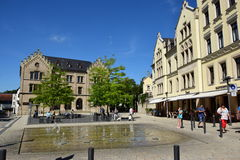 Building at the Albertsplatz square in Coburg, Germany Royalty Free Stock Images