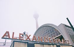 Building of AlexanderPlatz Railway station in Berlin Royalty Free Stock Photos