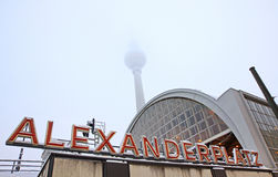 Building of AlexanderPlatz Railway station in Berlin Stock Photography