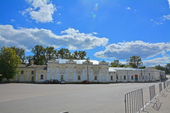 Building of All-Russian historical and ethnographic museum in the centre of Torzhok city, Russia Stock Photo