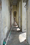 Building alley with arch in the heritage building. In Penang Royalty Free Stock Images