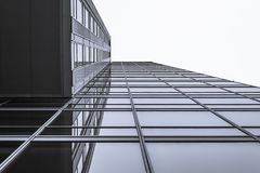 Straight perspective. Building in Almere, Netherlands Royalty Free Stock Images