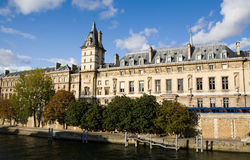 Building along the Banks of the Seine River Stock Photography