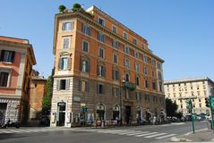 Building along Corso Vittorio Emanuele avenue in Rome Stock Images
