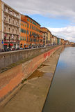 Building along River Arno in Pisa City Center Stock Photography