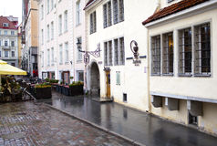 Building of an ancient drugstore, 15th century. Tallinn Royalty Free Stock Image