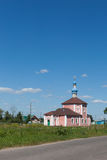 Building of ancient Russian Orthodox Church Stock Photos