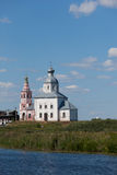Building of ancient Russian Orthodox Church stock photo