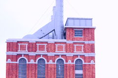 Building of antique factory Stock Photos