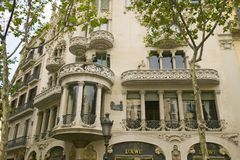 Building by Antoni Gaudi, Barcelona, Spain Royalty Free Stock Images