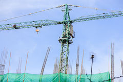 Building apartment with crane Stock Photography