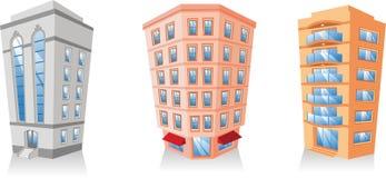 Building apartment set 4 Royalty Free Stock Photos
