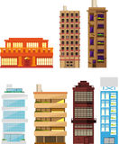Building apartment tower house architecture set 7 Stock Image