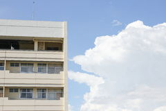 Building apartmentThailand, on blue sky the background Royalty Free Stock Image