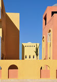 Building in Arabic style. Fragment of a building in Arabic style. Africa royalty free stock images