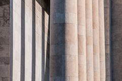 Columns. Building and arc architecture in Rome in EUR block, columns Royalty Free Stock Image