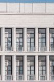 Square windows architeture. Building and arc architecture in Rome in EUR block, columns Royalty Free Stock Photography