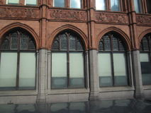 Building Arches. A series of external arches on a historic London building Stock Photography