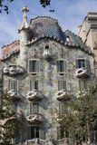The building of architect Antonio Gaudi, Barcelona, ​​house stock photography